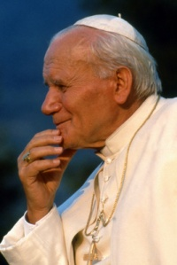 POPE JOHN PAUL II PICTURED IN UNDATED PHOTO